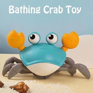 Bath Toys Big Crab Clockwork Baby Infant Water Classic Toy Beach Toys For Baby Drag Baby Bath Tub Summer Toy For Kids