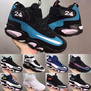 Classique 1 Griffey Baseball Chaussures pour Hommes Chaussures 2020 Argent métallisé eau douce minuit marine extérieure de basket-ball Chaussures Taille 40-46