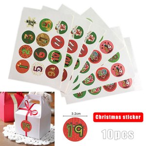 10 Sheets Set Christmas Stickers Advent Calendar Numbers 1-24 Embellishments Gift SDF-SHIP