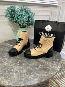 TOP Goatskin botas lace-ups tornozelo descontar novas botas de estilo para mulheres de inverno sapatos de designer de moda marca melhor fábrica de venda on-line com caixa