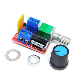 500pcs / lot Mini 5A PWM Max 90W DC-Motordrehzahlregler-Modul DC-DC 3V 35V einstellbares Potentiometer Switch Board LED Dimmer