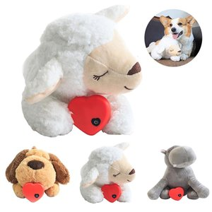 Plush Toy Pet Dog Toy Stuffed Animals & Plush Doll Heart Beat Soothing Dog Educational Anti-stress Electric Toy For Dogs Cats