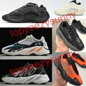2020 Adidas YEEZY BOOST 700 Kanye West 700 V2 V3 Running Shoes Chaussures de course Inertie réfléchissant Tephra solide gris Noir Hommes Femmes Utilitaire Sport 36-45