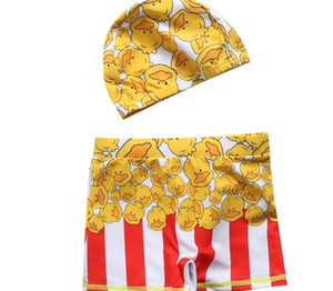 Children Swimwear with a Cap Summer Kids Swimsuit Boys Briefs Cute Swimming Trunks Cartoon Bathing Suit for 2-11 Years77
