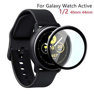 Samsung Galaxy Watch Active 2 44mm 40mm 스포츠 3D HD 전체 화면 보호기 필름 활성 2 시계 액세서리 갤럭시 유리