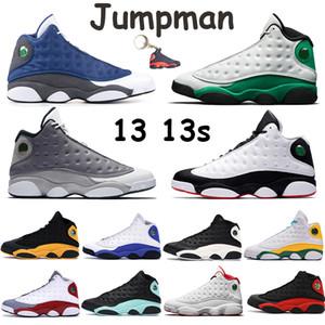 silex élevé hommes chaussures de basket-ball de 13 13s atmosphère de bouchon de gomme blanche gris chat noir et cour robe pourpre hommes vert chanceux chaussures de sport