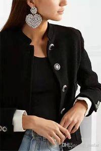 New fashion high quality luxury designer women earrings Full Rhinestone Love Ear clip lover ladies jewelry free shipping