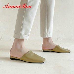 ANMAIRON ronde Casual Toe Pumps Chaussures Femme Mules Mules mode Chaussures de mariage de luxe en cuir véritable Les Créateurs