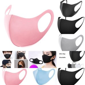 Stock! Dust In Face Mouth Cover PM2.5 Anti Fashion Face Masks Washable Protective Face Masks Black Reusable Designer Mask 8ZXX