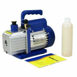 3,5 CFM Rotary Vane pompa a vuoto 1 / 4HP HVAC R134a aria condizionata refrigerante 8Qe6 #