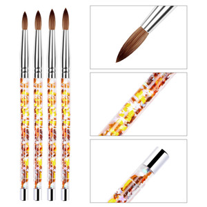 Nail Art Line Painting Pen 3D Tips Acrylic UV Gel Brushes Drawing Crystal Liner Glitter French Design Manicure Tool 0158
