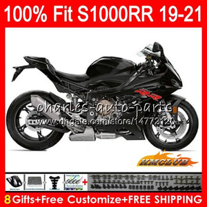 100% Fit Injection mold black glossy For BMW S1000 RR S1000RR 19 20 21 Bodywork 88HC.9 S1000-RR S 1000 RR S 1000RR 2019 2020 2021 Fairings
