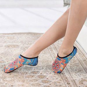 Sports Socks Professional Women Yoga Printed Ultralight Anti-slip Anti-sweat Hosiery Footwear For Pilates Ballet Dance