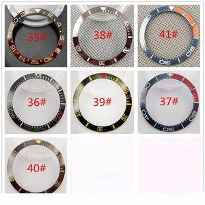 38mm Ceramic Bezel Insert Watch Kit Fit Automatic 40mm Mens Watch Case New High Quality Bezels Insert Watch Accessories P300