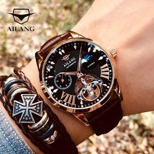 Swiss Automatic Orologio da uomo Moon Phase AILANG Tourbillon degli uomini di qualità Diesel Orologi trasparente meccanico Steampunk Clock T200812