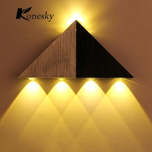 Modern Triangle Led Wall Lamp Home Lighting Aluminum LED Wall Luminaire For Home Decoration High Power Led Wall Light AC90-265