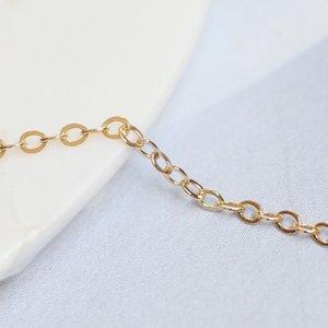 Brevetto 14K oro pacchetto 1,68 millimetri lampo o accessori striscia trasversale catena piatta catena accessori shear