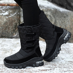Winter Snow Boots Womens Shoes With Fur Warm Outdoor Sneakers Non-slip Womens Flats Casual Boots Comfort Shoes Botas De Mujer