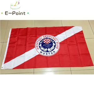 Bosnia y Herzegovina HSK Zrinjski Mostar Tipo B 3 * 5 pies (90 cm * 150 cm) de poliéster bandera bandera bandera decoración del hogar volar jardín festiva