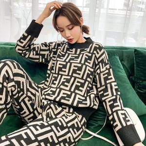 2020 Style Design personnalité pull vêtements pour femmes en laine pull en tricot classique 2 pièces ensemble pantalon manteau de femmes de livraison gratuite