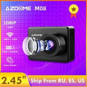 """AZDOME M08 1080P Dash Cam Super Capacitor 2.45"""" Camera IPS auto con WiFi WDR Sony Sensore Car DVR visione notturna del registratore dash cam nEFp #"""