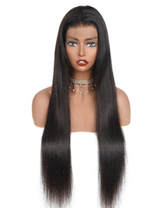4x4 Closure Wig Lace Front Human Hair Wigs 250 Density Brazilian Straight Lace Front Wig Remy 360 Lace Frontal Wig
