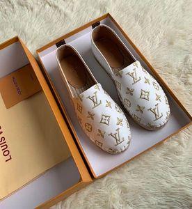 2020 mocassins en cuir Camo ESPADRILLES chaussures Fisher chaussures chaîne en cuir femmes taille 35-41 us size Chaussures Casual-US5 us82019 imprimer tigres 35-42