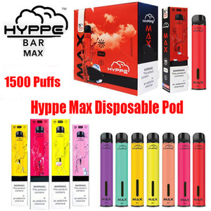 Hyppe Bar Max Dispositivo Dispositivo Dispositivo Pod POD 650MAH Bateria 1500 Puff 5ml Pré-enchido Vape PODs Cartuchos Vs Bang XL Xtra Plus Flow XXL