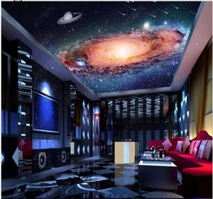 3d wallpaper custom photo mural on the wall Atmosphere galaxy starry nebula spaceship ceiling mural home decor wallpaper for walls 3 d