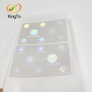 Etiqueta engomada de la capa de película del holograma de seguridad láser 3D personalizada
