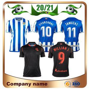 20/21 Real Sociedad Soccer Jersey 2020 Início OYARZABA da camisa do futebol Longe X.PRIETO SILVA WILLIAN J JANUZAJ ISAK Futebol uniforme
