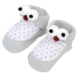 2020 Fox Coral Polar Sevimli Meias Yumuşak Hayvan Patter Terlik Bebek Kız Stereoskopik Çorap 1D19 3d