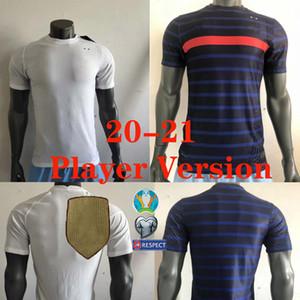 플레이어 버전 20 (21) 프랑스 축구 유니폼 대표팀 PAVARD VARANE 프랑스어 2020 2021 망 축구 유니폼 플레이어 셔츠 Camiseta 드 푸 웃