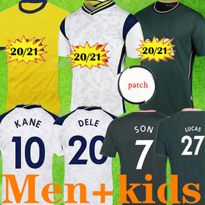 4XL 20 21 BALE Spurs maison blanche # 10 maillots de football KANE 2020 # 7 SON # 20 DELE 23 # Bergas gardien SOSA Camisetas de futebol chemise de football