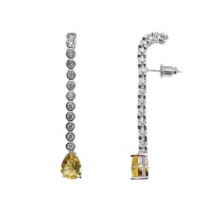 Europe and America Fashion Long Eardrop For Girl Brand Designer Wedding Jewelry 18K Gold Plated Women Water Drop Earring