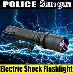 الدفاع عن النفس 1101 الكهربائية الصدمات تحمي نفسك متعددة الوظائف T6 فلاش Ligths مصابيح قابلة للشحن الشعلة فانوس