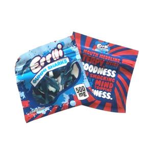 Yeni Geliş 400mg Errlli GUMMI KÖPEKBALIKLARI Ekşi Terp tarayıcılar Maylar çanta Dankest Gummi Solucan mylar çanta Skittles Packaging kanıtı Berry kokla