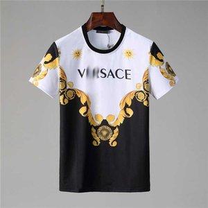 2019 Firma camiseta de París Europa bordado Imprimir letra de la manera hombre de las camisetas de los hombres ocasionales de las mujeres ropa de algodón T-Tops FG9571
