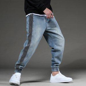Odinokov Erkekler Jean Yüksek Kalite Düz Bacak Erkek Casual Pantolon Artı boyutu Pamuk Denim Pantolon Hip Hop Harem Pantolon