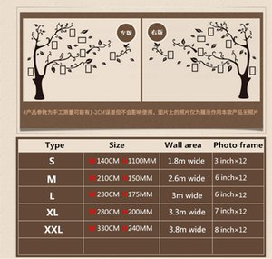 3D DIY Family Wedding Photo Tree PVC Wall Decals Art Home TV Background Decoration Wall Stickers 4 Sizes Wall Poster Mural