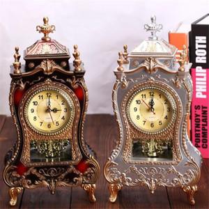 1PC 12 canzoni Antique Clock Tower a forma di orologi da tavolo creativo decorazione classica dell'oscillazione sveglia Camera Living TV Cabinet Desk