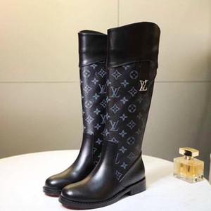 Женская мода Обувь Сапоги Zipper Платформа Круглый Toe Плоский каблук сапоги осень зима обувь женщина Плюс Размер 43 Bottes Femmes Luxury Fast Ship