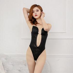 QtGmJ sJQ8v New Evening pizzo corpo-shaping vestiti della cinghia backless abito Shapewear shapewear sexy spalla trasparente invisibile reggiseno corpo-fit w