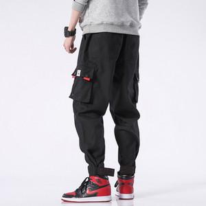 BQODQO 2020 Pantalons pour hommes Coton Sports d'été Pantalons Drawstring Pantalons desserrées Jogger Streetwear Casual Trendy pantalons style