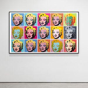 Famoso Andy Warhol Marilyn Monroe lienzo colorido cartel Impresión de la pintura moderna del arte en cuadro de la pared para sala de estar Dormitorio