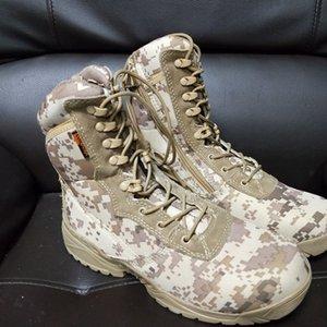 TsTJc Canal verão sapatos novos combate montanhismo e guerra Guerra táticas das forças especiais botas de deserto terra botas de combate montanhismo sapatos