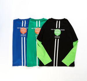 MKBE Детская футболка осенью мальчика осенью 2020 новая детская куртка Чжунчжун подделка с двумя кусками лоскутное спортивное детское пальто с