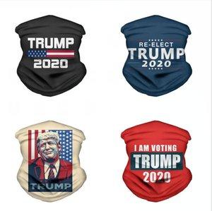 2020 Trump Üçgen Magic Eşarp ABD Başkanı Trump Seçim Bandana Fonksiyonlu Sport Bisiklet Borulu Şapkalar Yüz Maskeleri DDA401