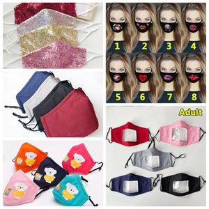 Disponibile! Lip Lingua lavabili riutilizzabili Maschere viso PM2.5 copertura cura del fronte del Monte 3D Print Maschere antipolvere Mask Bocca