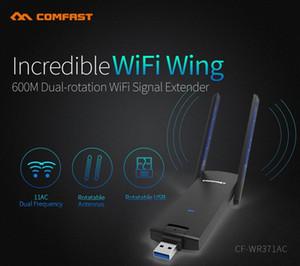 Comfast 600M Dual Band 5G Wifi Antena Wireless WiFi USB Extender sinal sem fio CF-WR371AC Oj1c #